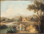 Giuseppe Zais (March 22, 1709 � October 29, 1784) Landscape with a Group of Figures Fishing probably 1770�80 Oil on canvas 49 x 65.5 cm National Gallery, London, UK