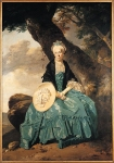 Johan Zoffany, Zoffani or Zauffelij (13 March 1733 – 11 November 1810) Mrs Oswald Oil (identified) on canvas, probably about 1760­5 226.5 x 158.8 cm National Gallery, London, United Kingdom
