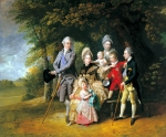 Johan Zoffany, Zoffani or Zauffelij (13 March 1733 – 11 November 1810) Queen Charlotte with her Children and Brothers Oil on canvas, 1771-72 105.2 x 127 cm (41 3/8 x 50 in.) Royal Collection, London, UK