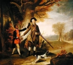 Johan Zoffany, Zoffani or Zauffelij (13 March 1733 – 11 November 1810) The Third Duke of Richmond out shooting with his servant Oil on canvas, c.1765