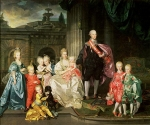 Johan Zoffany, Zoffani or Zauffelij (13 March 1733 – 11 November 1810) Leopold I, Grand Duke of Tuscany with his wife Maria Luisa and their children Oil on canvas, 1776 325 × 398 cm (128 × 156.7 in) Kunsthistorisches Museum, Vienna, Aust