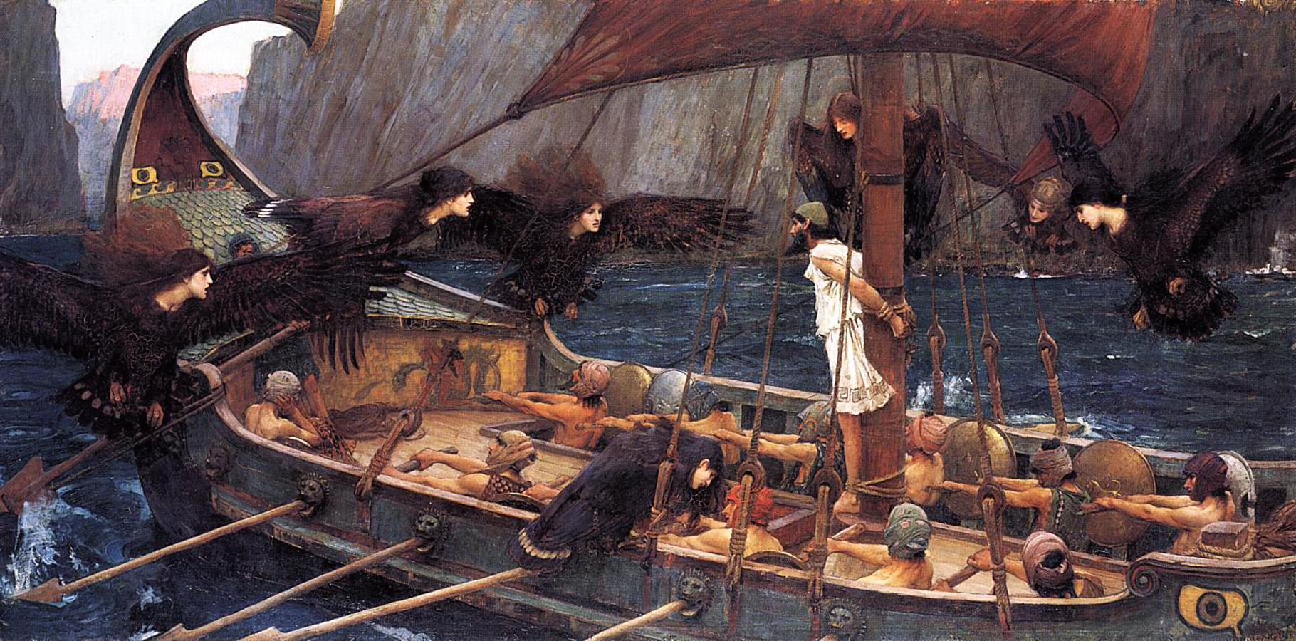 the odyssey and siren song The ship speeds forward and soon the song of the sirens is an echo of an echo only then do the crew members stop rowing and unplug their ears eurylochus unbinds his grateful captain.