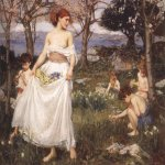 John William Waterhouse (6 April 1849 — 10 February 1917)  A Song of Springtime  Oil on canvas, circa 1913  Private collection