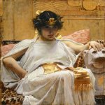 John William Waterhouse (6 April 1849 � 10 February 1917)  Cleopatra  Oil on canvas, 1888  25.7 x 22.4 in  Private collection