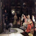 John William Waterhouse (6 April 1849 � 10 February 1917)  Consulting the Oracle  Oil on canvas, 1884  119 x 198 cm  Tate Britain, London, UK