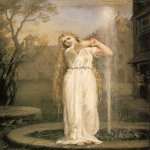 John William Waterhouse (6 April 1849 — 10 February 1917)  Undine  Oil on canvas, 1872  Private collection