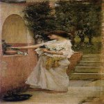 John William Waterhouse (6 April 1849 — 10 February 1917)  A Roman Offering  Oil on canvas, circa 1890  Unknown location