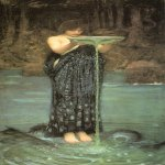 John William Waterhouse (6 April 1849 — 10 February 1917)  Circe Invidiosa  Oil on canvas, 1892  180.7 x 87.4 cm  Art Gallery of South Australia, Adelaide, South Australia, Australia