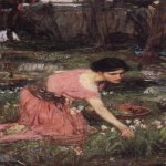 John William Waterhouse (6 April 1849 — 10 February 1917)  Flora  Oil on canvas, circa 1890  102 x 68 cm  Private collection