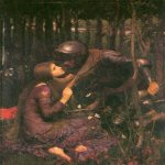 John William Waterhouse (6 April 1849 — 10 February 1917)  La Belle Dame Sans Merci  Oil on canvas, 1893  112 x 81 cm  Hessisches Landesmuseum, Darmstadt, Germany