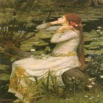 John William Waterhouse (6 April 1849 — 10 February 1917)  Ophelia  Oil on canvas, 1894  49 x 29 in  Private collection