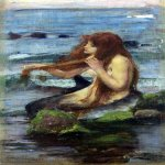 John William Waterhouse (6 April 1849 — 10 February 1917)  A Mermaid (Study)  Oil on canvas, 1892  Private collection