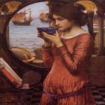John William Waterhouse (6 April 1849 — 10 February 1917)  Destiny  Oil on canvas, 1900  68.5 x 55 cm  Towneley Hall Art Gallery, Burnley, Lancashire, UK