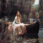 John William Waterhouse (6 April 1849 — 10 February 1917)  The Lady of Shalott  Oil on canvas, 1888  153 cm × 200 cm (60 in × 79 in)  Tate, London, UK