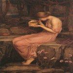 John William Waterhouse (6 April 1849 — 10 February 1917)  Psyche Opening the Golden Box  Oil on canvas, 1903  117 x 74 cm  Private collection