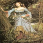 John William Waterhouse (6 April 1849 — 10 February 1917)  Ophelia  Oil on canvas, 1910  Private collection