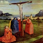 Konrad Witz (c. 1400-1410 - c. 1445/1446)  Christ on the Cross  Oil on panel, c.1430-1433  34 x 26 cm  Staatliche Museen, Berlin, Germany
