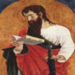 Marco Zoppo (1433 - 1498)   Saint Paul  Oil on panel, c. 1470  49 × 31 cm  Ashmolean Museum, Oxford, United Kingdom