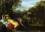 Adam Elsheimer (18 March 1578 – 11 December 1610) Apollo and Coronis between 1607 and 1608 Oil on copper Height: 12.6 cm (5 in). Width: 17.4 cm (6.9 in) Walker Art Gallery, Liverpool, England, United Kingdom