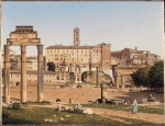 Christoffer Wilhelm Eckersberg (2 January 1783 – 22 July 1853) View of the Forum in Rome Oil on canvas,  1814 32 x 41 cm National Gallery, London, UK