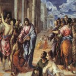 El Greco (1541-1614)  Christ Healing the Blind  Oil on canvas, 1577-1578  47 1/8 x 57 3/8 inches (120 x 146 cm)  Metropolitan Museum of Art, Manhattan, New York, USA