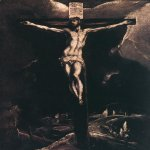 El Greco (1541-1614)  Christ on the Cross  Oil on canvas, 1585-1590  22 3/8 x 12 7/8 inches (57 x 33 cm)  Rijksmuseum, Amsterdam, Holland
