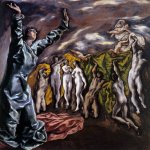El Greco (1541-1614)  Opening of the Fifth Seal  Oil on canvas, 1608–1614  224.8 cm × 199.4 cm (88.5 in × 78.5 in)  The Metropolitan Museum of Art, New York City, USA