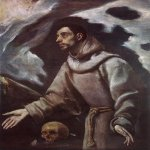 El Greco (1541-1614)  The Ecstasy of St Francis  Oil on canvas, c.1580  40 1/8 x 29 1/2 inches (102 x 75 cm)  Bishop's Palace, Siedlce, Poland