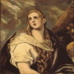 El Greco (1541-1614)  The Penitent Magdalene  Oil on canvas  34 x 26 3/8 inches (86.4 x 67.3 cm)  Private collection