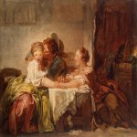 Jean-Honore Fragonard (1732-1806)  The Captured Kiss  Oil on canvas  Hermitage, St Petersburg, Russia