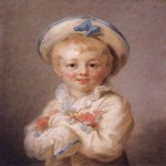 Jean-Honore Fragonard (1732-1806)  A Boy as Pierrot  Oil on canvas, 1776-1780  23 1/2 x 19 5/8 inches (60 x 50 cm)  Wallace Collection, London, England