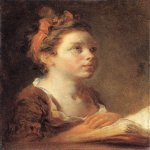 Jean-Honore Fragonard (1732-1806)  A Young Scholar  Oil on canvas, 1775-1778  17 5/8 x 14 7/8 inches (45 x 38 cm)  Wallace Collection, London, England
