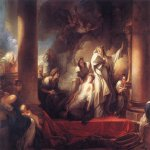 Jean-Honore Fragonard (1732-1806)  Coresus Sacrificing himselt to Save Callirhoe  Oil on canvas, 1765  121 5/8 x 157 3/8 inches (309 x 400 cm)  Musée du Louvre, Paris, France
