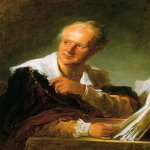 Jean-Honore Fragonard (1732-1806)  Portrait of a Man (Portrait of Denis Diderot)  Oil on canvas  Private collection