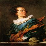 Jean-Honore Fragonard (1732-1806)  Portrait of a Young Man  Oil on canvas  Private collection