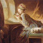 Jean-Honore Fragonard (1732-1806)  The Love Letter  Oil on canvas, c.1770-1780  32 3/4 x 26 3/8 inches (83.2 x 67 cm)  Metropolitan Museum of Art, Manhattan, New York, USA