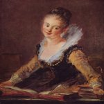 Jean-Honore Fragonard (1732-1806)  The Reader  Oil on canvas, 3rd quarter of 18th century  81 × 65 cm  Musée du Louvre, Paris, France