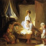 Jean-Honore Fragonard (1732-1806)  The visit to the Nursery  Oil on canvas, 1775  64 × 79.5 cm (25.1 × 31.3 in)  National Gallery of Art, Washington, DC, USA