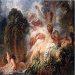 Jean-Honore Fragonard (1732-1806)  The Bathers  Oil on canvas, 1772-1775  25 1/8 x 31 3/8 inches (64 x 80 cm)  Musée du Louvre, Paris, France
