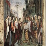 Francesco Francia (1450-1517)  The Marriage of St Cecily  Fresco, 1504-1506  Private collection