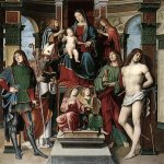 Francesco Francia (1450-1517)  Madonna and Saints  Panel  Private collection