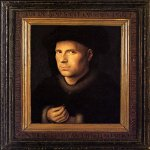 Jan van Eyck (about 1395-1441)  Portrait of Jan De Leeuw  Oil on panel, 1436  24.5 x 19 cm  Kunsthistorisches Museum, Vienna, Austria