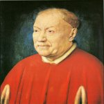 Jan van Eyck (about 1395-1441)  Cardinal Albergati  Oil on panel, 1438  32.5 x 25.5 cm  Kunsthistorisches Museum, Vienna, Austria