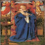 Jan van Eyck (about 1395-1441)  Madonna at the Fountain  Oil on panel, 1439  19 x 12.2 cm  Koninklijk Museum voor Schone Kunsten, Antwerp, Belgium