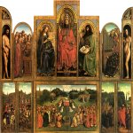 Jan van Eyck (about 1395-1441)  Ghent Altarpiece  Oil on panel, 1432  375 x 520 cm  Cathedral of St Bavo, Ghent, Belgium