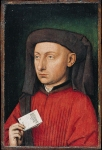 Jan van Eyck (about 1395-1441) Marco Barbarigo Oil on oak, about 1449 24.1 x 15.9 cm National Gallery, London, UK